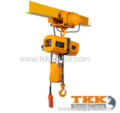 TKK Brand Economical Model Electric Chain Hoist With Electric Trolley/ Hook Suspension 3000KG