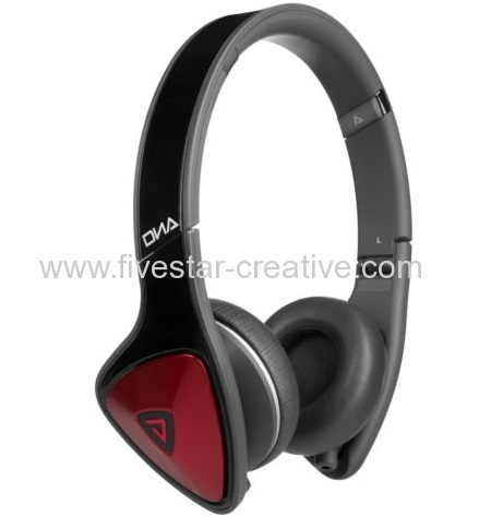 Monster DNA On-Ear Sound Isolating Headphones with ControlTalk Black Red