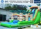 Durable PVC Inflatable Water Slide Pool Water Park Jungle vinyl / tarpaulin