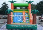Residential EN71 Inflatable Pool Water Slide Green Jungle With Sprayers , Durable Vinyl