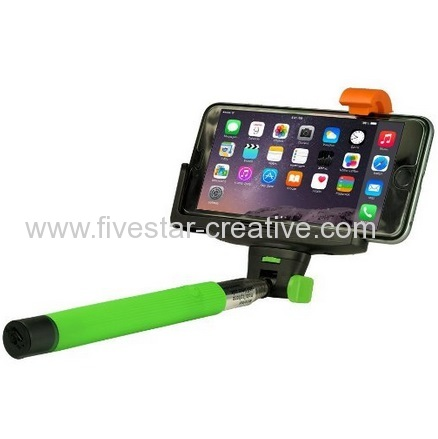 Adjustable Handheld Wireless Mobile Phone Selfie-Timer Pole with Clamp For iPhone Samsung