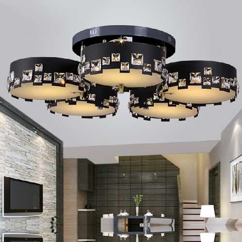 Laser Cutting Living Room Crystal Ceiling Lamps For Sale