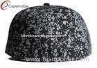 Acrylic Twill Fabric Adjustable Baseball Caps Black With Elastic Sweatband