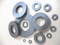 Hard custom ferrite cylinder magnet for sale