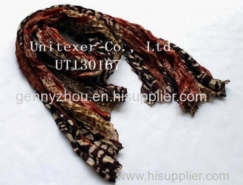 Wrinkled printing scarf for 2015