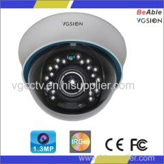 720P Resolution 1.3MP AHD IR Dome Camera