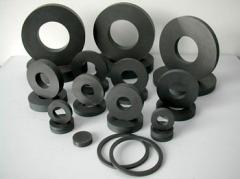 Strong power ferrite magnet for motors
