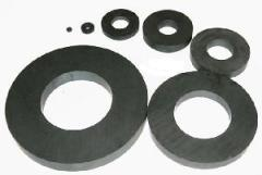 Hard sindered barium ferrite magnet