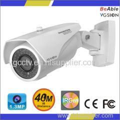 720P Resolution 1.3MP AHD Outdoor Metal Housing IR Camera