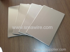 Stainless steel composite plastic panel