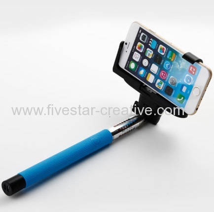 Selfie Stick Handheld Extendable Pole Integrated Bluetooth Wireless Remote Camera Shooting Shutter for Self Portrait