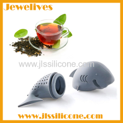Silicone tea infuser shark shape