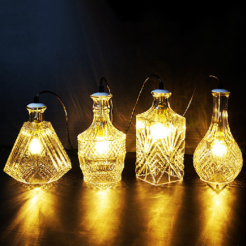 Carved bottle glass chandelier &Coffee bar glass hanging lamps