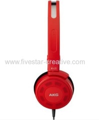 AKG K420 Folding Stereo Sound Portable Over-Ear Headphones in Red