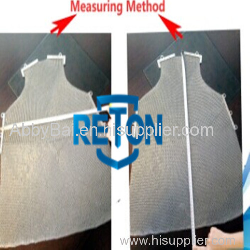 Stainless Steel Butcher Apron/Cut Resistant Apron/ Mesh Safety Apron