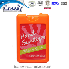 20ml credit hand sanitizer corporate business gift