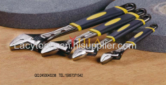 2 holes adjustable wrench with different color type handle