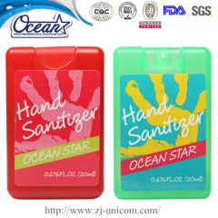 20ml credit card hand sanitizer closeout promotional items