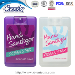 20ml credit card hand sanitizer office promotional items