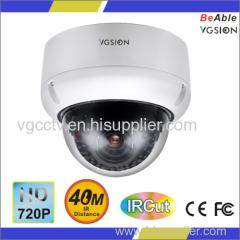 720P High Resolution HD-CVI Vandal proof Metal dome Camera