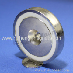 D60mm M8 countersunk ring magnet rare earth permanent magnetic mount