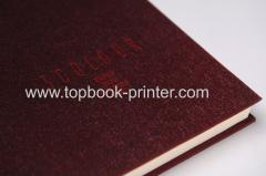 linen cloth debossed cover hardbound or hardcover book