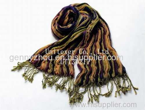 Elastic woven scarf for 2015