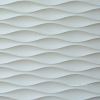 3D wavy stone wall tile pattern