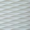 3D wavy stone wall tile pattern