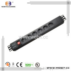 1.5U Denmark series PDU with switch