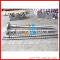 Bimetallic screw barrel for blow molding machine