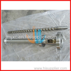 Bimetallic screw and barrel for blow moulding machine