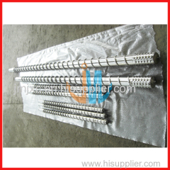 Single screw and barrel for blow molding machine
