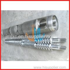conical twin screw barrel