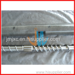 Vented screw barrel for recycling pelletizing