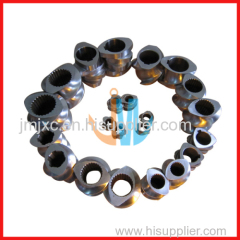 Segment screw for twin compounding extruder
