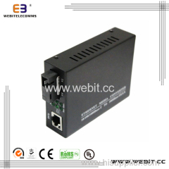 Ethernet Bidi media converters with external power supply