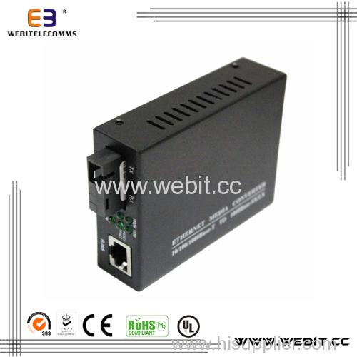 Ethernet Bidi media converters with external power supply