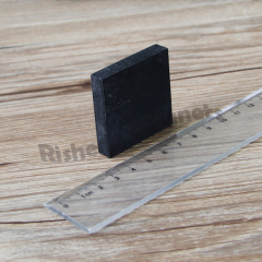 Rare Earth Neodymium Block Magnet N42 38.1 x 38.1 x 6.35mm With Rubber Coating Permanent Rubber Coated Magnet