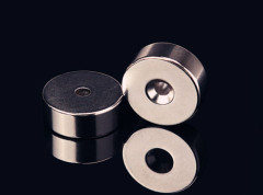 Sintered NdFeB ring magnet( coating zinc)