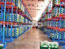 5000mm Drive Through Pallet Racking Blue / Orange Industrial Metal Shelving