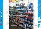 Light Duty Metal Supermarket Display Shelves Powder Finish , Single Sided Retail Shelves