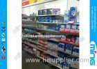 Light Duty Metal Supermarket Display Shelves Powder Finish , Single Sided Retail Shelves