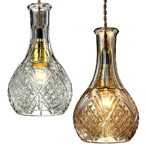 North American type glass bottles creative Coffee hall bar glass droplight for sale