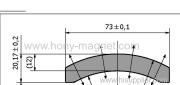 Radial Magnetized Bonded NdFeB Segment