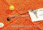 Orange Brown Chenille Microfiber Carpet Pad , Stain Resistant Polyester Carpet