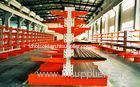 Cold Rolling Steel Cantilever Storage Racks With Multi - Level , Blue / Orange