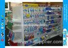 Powder Coated Supermarket Display Shelves Heavy Duty , 100kg Capacity