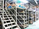 Blue , Orange Economical Rack Supported Mezzanine Steel Shelving Systems