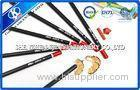 6B Wood Sketching Pencil Set Red Top For Drawing , Hexagonal Shape